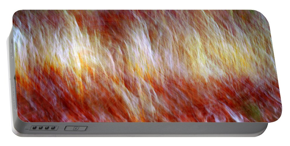 Abstract Art Portable Battery Charger featuring the digital art Run Like Hell by Linda Sannuti