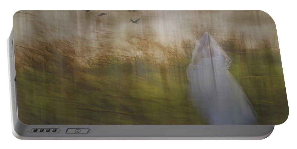 Woods Portable Battery Charger featuring the photograph Runaway Bride by Elaine Els
