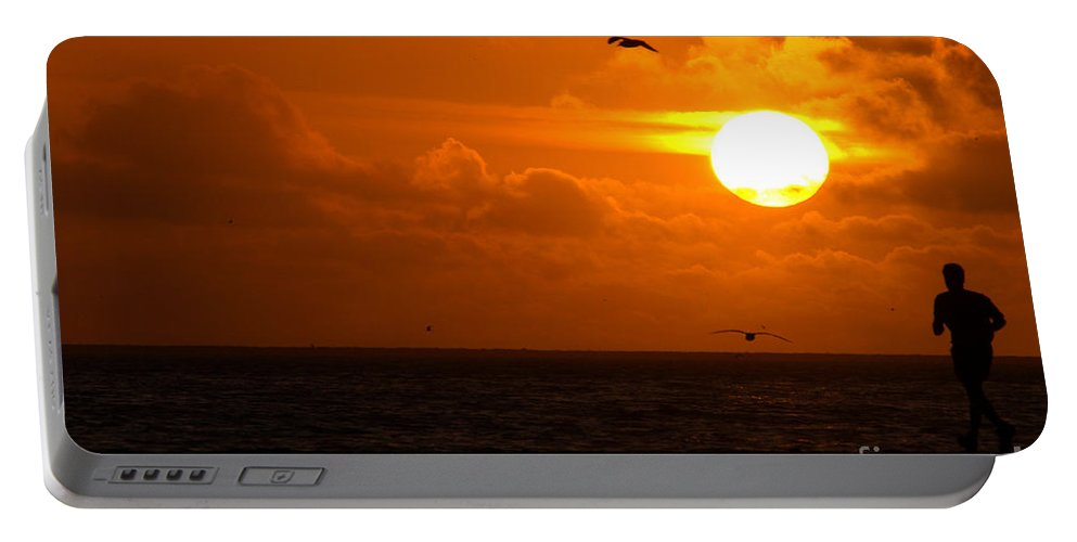 Clay Portable Battery Charger featuring the photograph Running By Dusk by Clayton Bruster