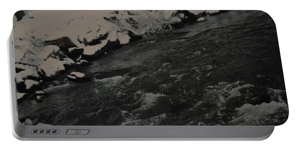Landscape Portable Battery Charger featuring the photograph Running Water by Rob Hans