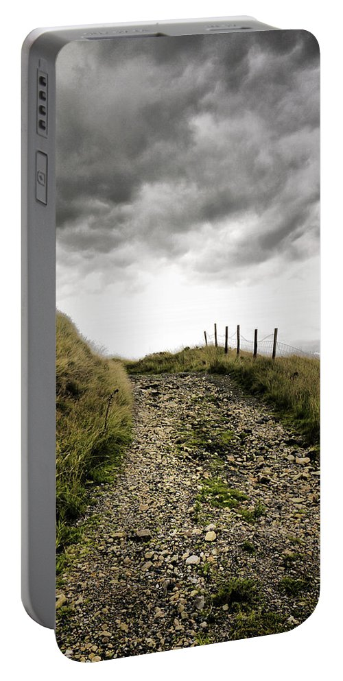 Abstract Portable Battery Charger featuring the photograph Rural Path by Kelly Jenkins