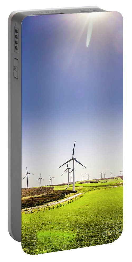Sky Portable Battery Charger featuring the photograph Rural Power by Jorgo Photography - Wall Art Gallery