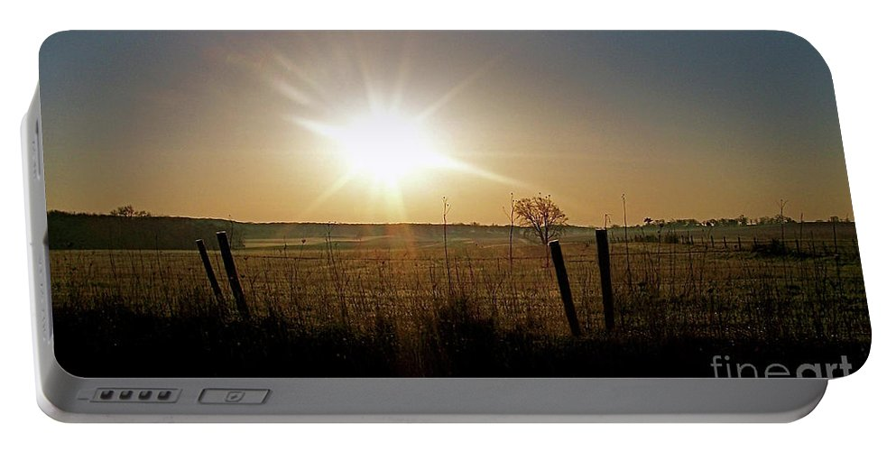 Color Photography Portable Battery Charger featuring the photograph Rural Sunrise by Sue Stefanowicz