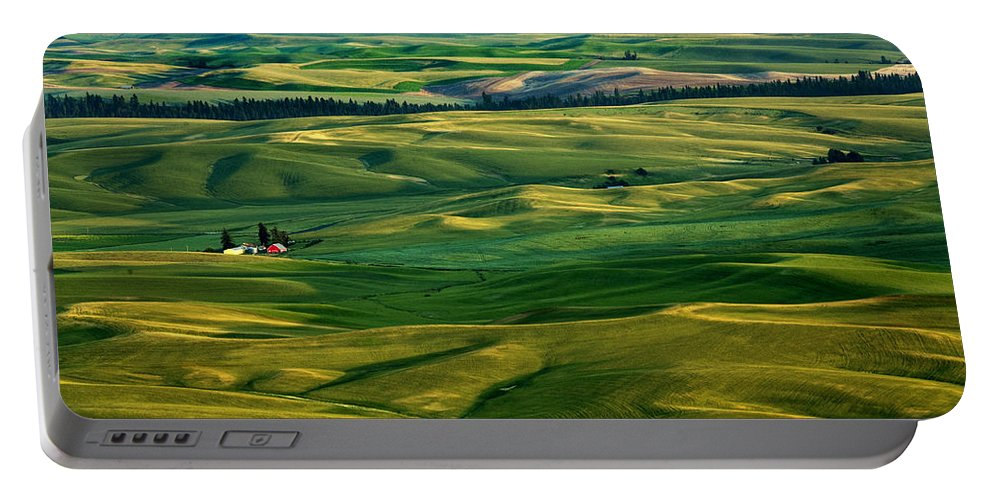 Palouse Hills Portable Battery Charger featuring the photograph Rural Tapestry by Mike Dawson