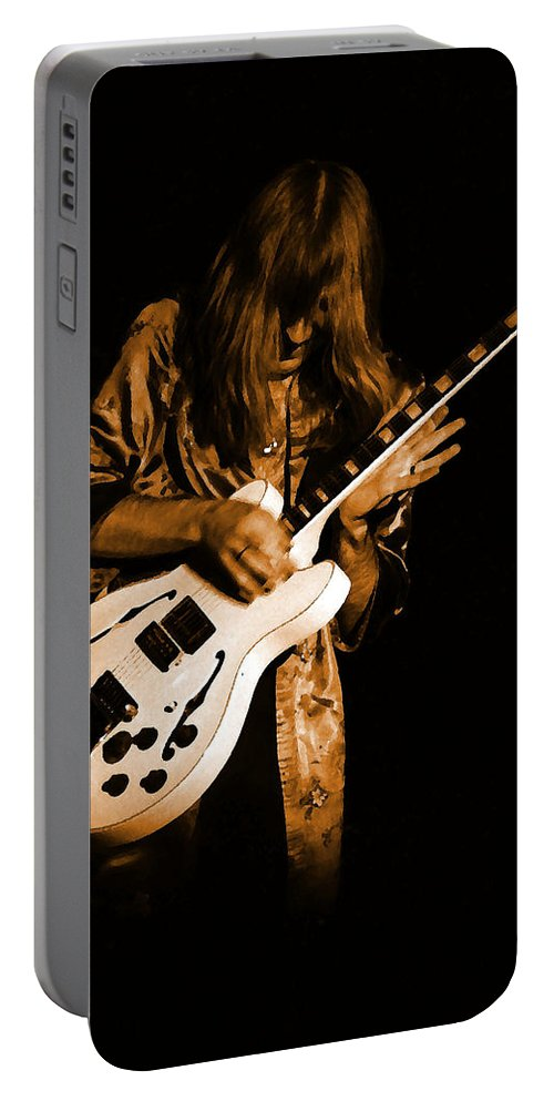 Rock Art Portable Battery Charger featuring the photograph Rush 77 #15 Enhanced In Amber by Ben Upham