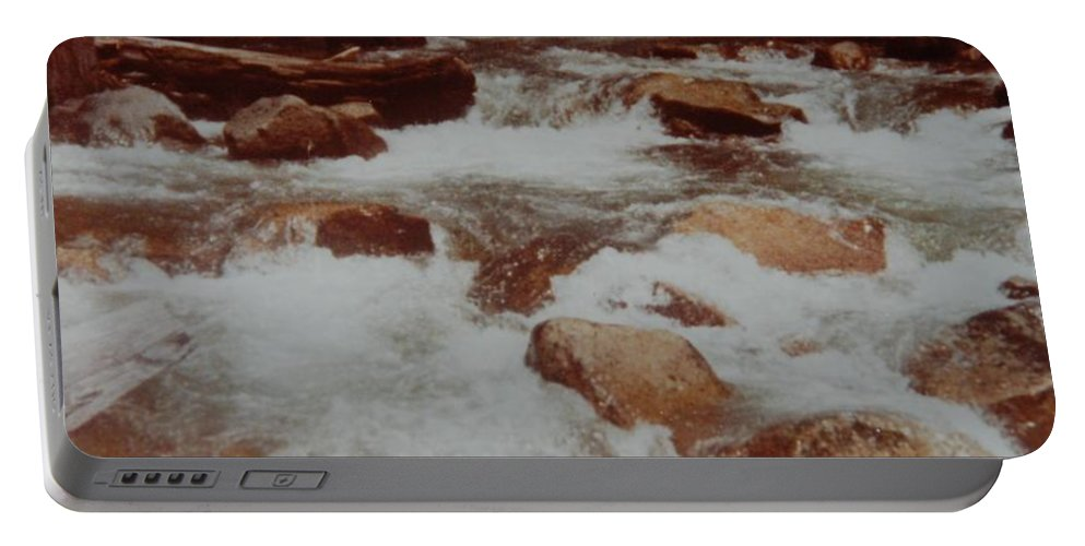 Water Portable Battery Charger featuring the photograph Rushing Water by Rob Hans