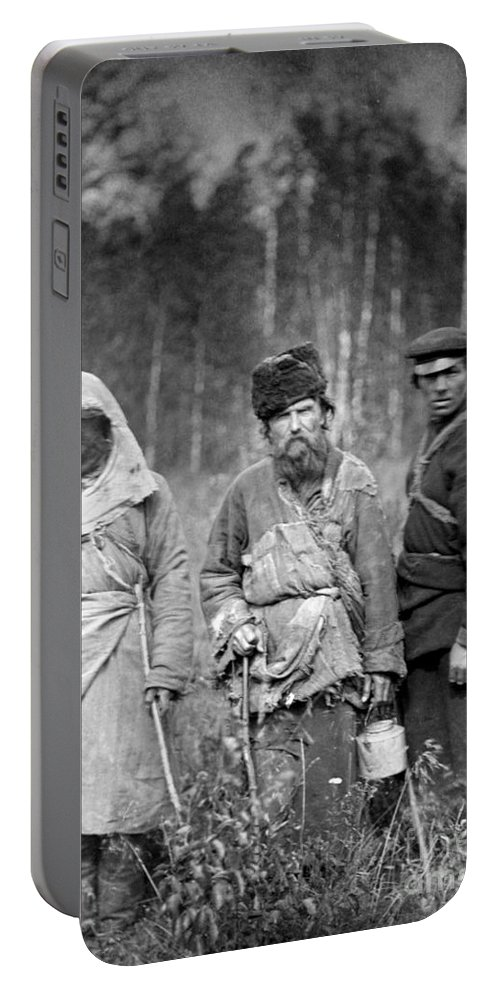 1885 Portable Battery Charger featuring the photograph Russia: Convicts, C1885 by Granger