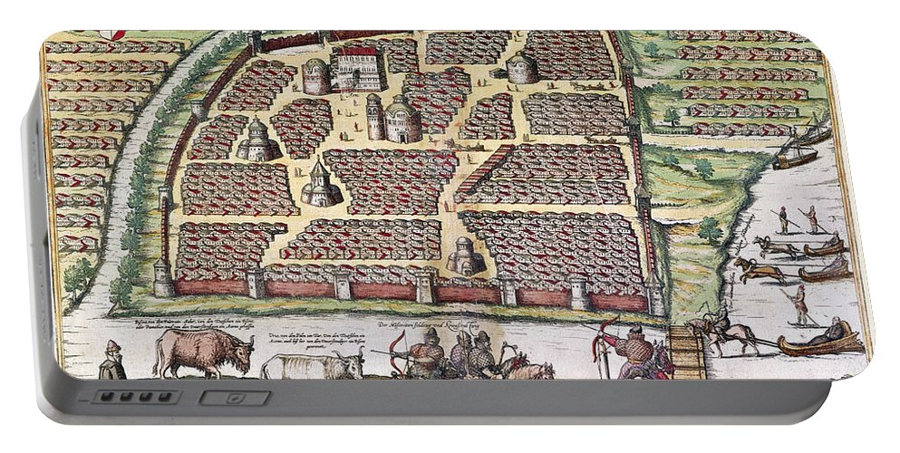 1591 Portable Battery Charger featuring the photograph Russia: Moscow, 1591 by Granger