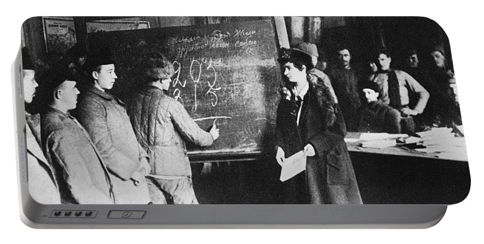1917 Portable Battery Charger featuring the photograph Russia: Students, 1917 by Granger