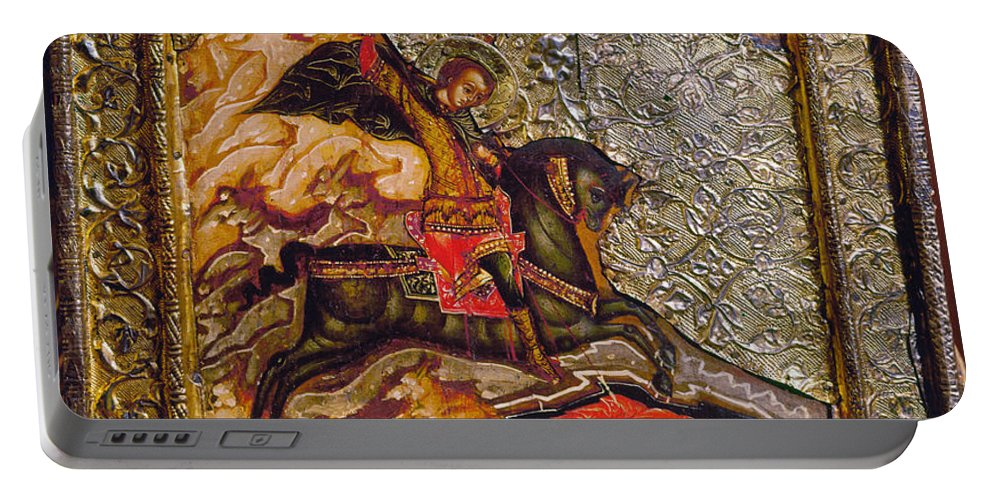 17th Century Portable Battery Charger featuring the photograph Russian Icon: Demetrius by Granger