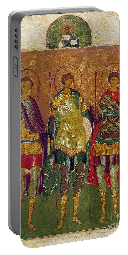 16th Century Portable Battery Charger featuring the photograph Russian Icon: Saints by Granger