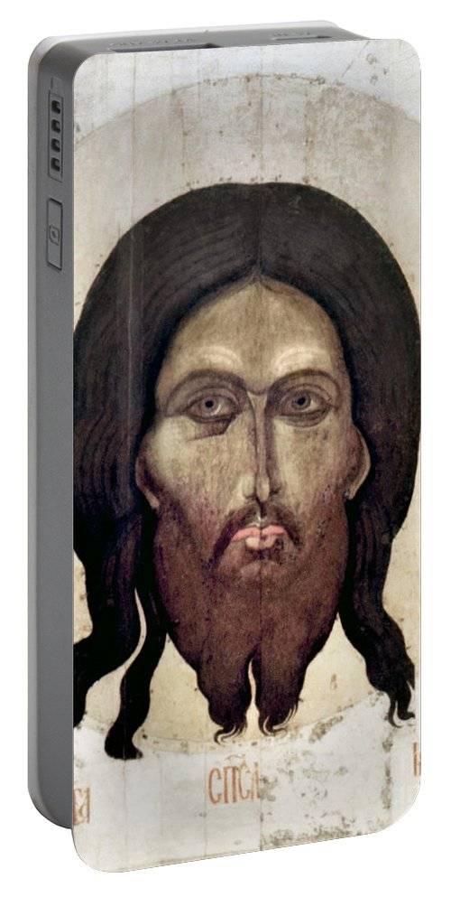15th Century Portable Battery Charger featuring the photograph Russian Icon: The Savior by Granger