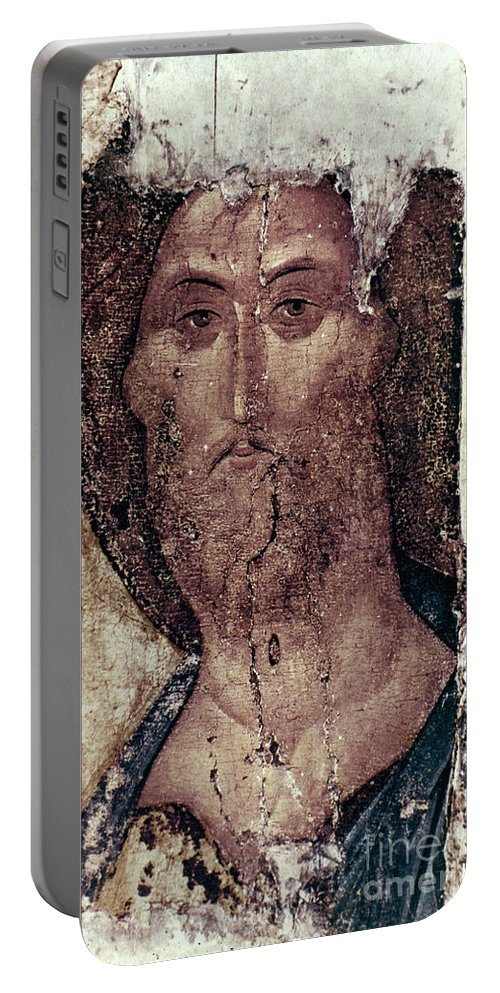 15th Century Portable Battery Charger featuring the photograph Russian Icons: The Saviour by Granger