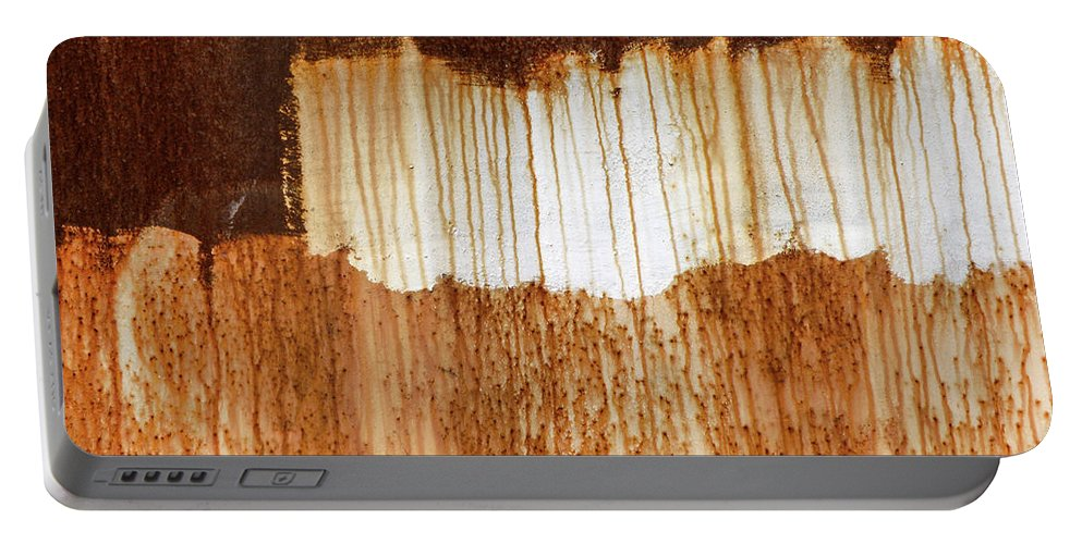 Abstract Portable Battery Charger featuring the photograph Rust 03 by Richard Nixon
