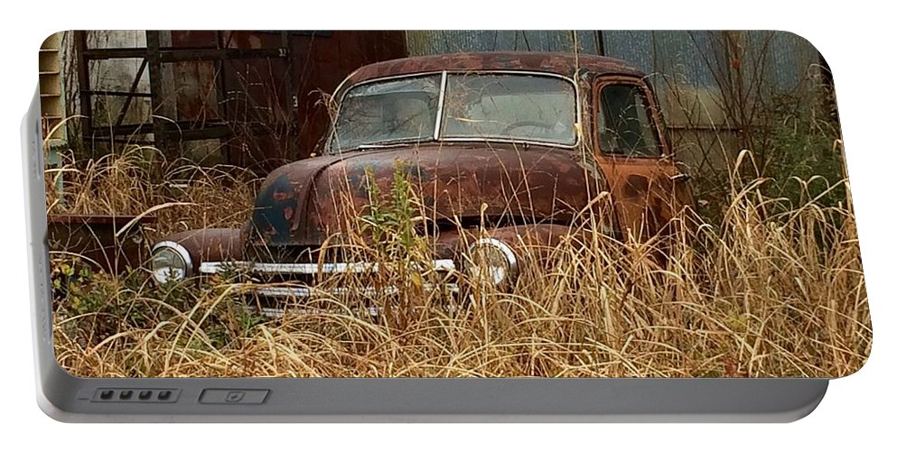 Truck Portable Battery Charger featuring the photograph Rust In Peace by Frank TuttPutt Tuttle