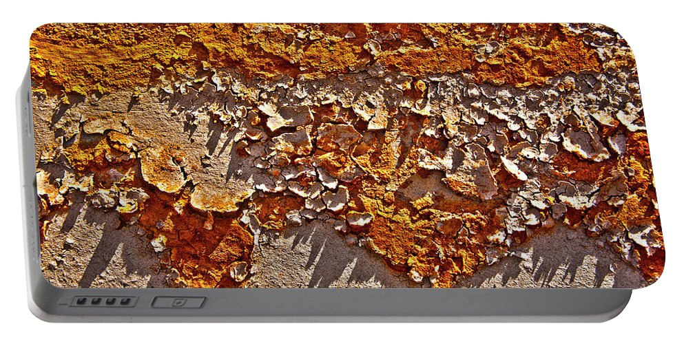 Pipe Portable Battery Charger featuring the photograph Rust On A Pipe by Heiko Koehrer-Wagner