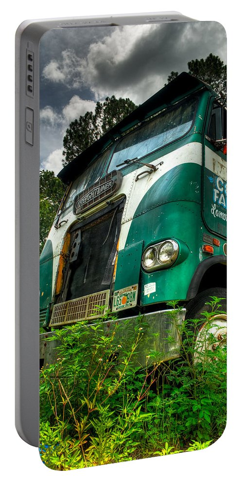 Truck Portable Battery Charger featuring the photograph Rusted And Busted by Rich Leighton