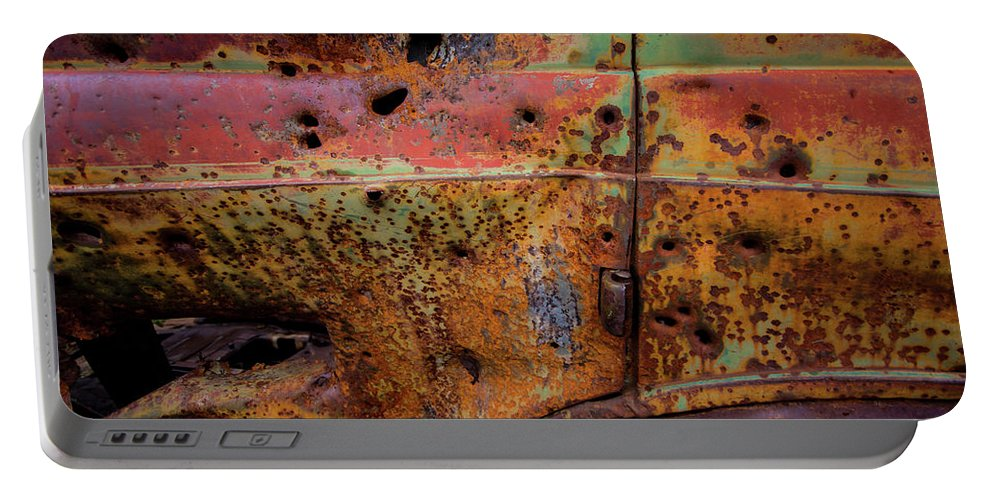 Car Portable Battery Charger featuring the photograph Rusted Beauty by Rob Lantz
