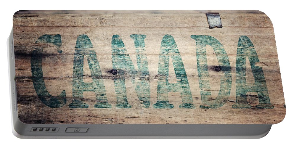 Canada Portable Battery Charger featuring the photograph Rustic Canada by Lisa Russo