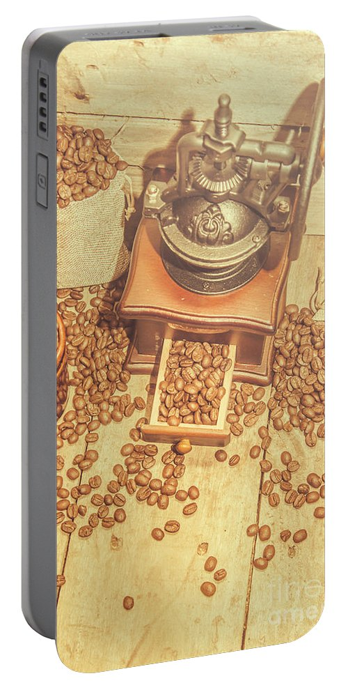 Resturant Portable Battery Charger featuring the photograph Rustic Country Coffee House Still by Jorgo Photography - Wall Art Gallery
