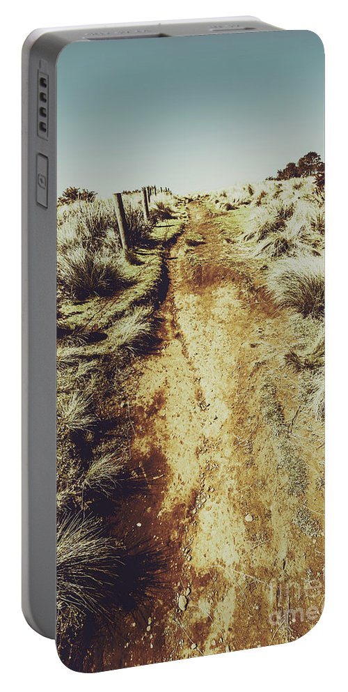 Nature Portable Battery Charger featuring the photograph Rustic Country Trails by Jorgo Photography - Wall Art Gallery