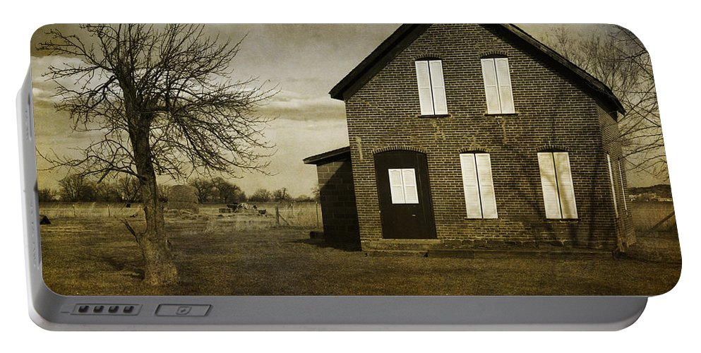 House Portable Battery Charger featuring the photograph Rustic County Farm House by James BO Insogna