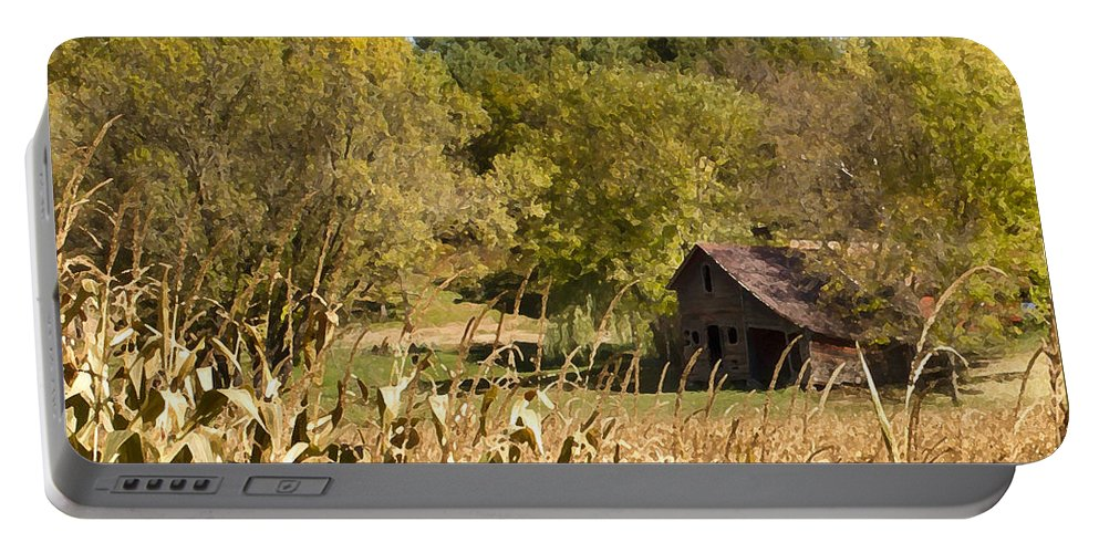 Landscape Portable Battery Charger featuring the photograph Rustic Escape by Inspired Arts