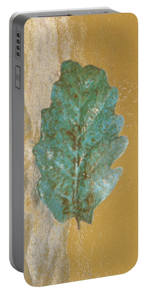 Leaves Portable Battery Charger featuring the photograph Rustic Leaf by Linda Sannuti