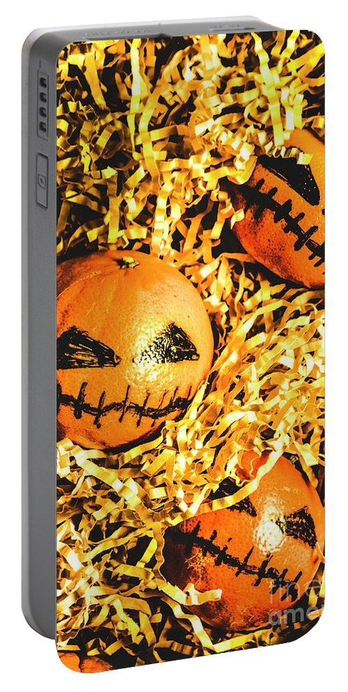 Halloween Portable Battery Charger featuring the photograph Rustic Rural Halloween Pumpkins by Jorgo Photography - Wall Art Gallery