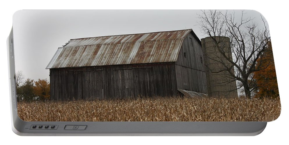 Barn Portable Battery Charger featuring the photograph Rusty by Brook Steed