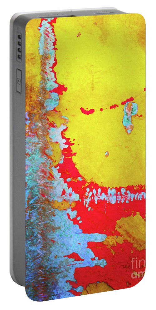 Abstract Portable Battery Charger featuring the photograph Rusty Expressions by Tara Turner