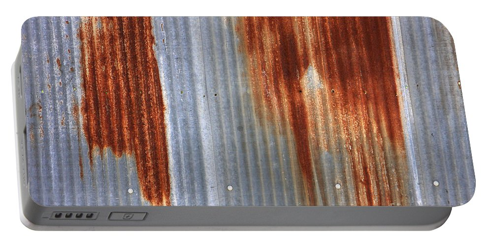 Rust Portable Battery Charger featuring the photograph Rusty Siding by James BO Insogna