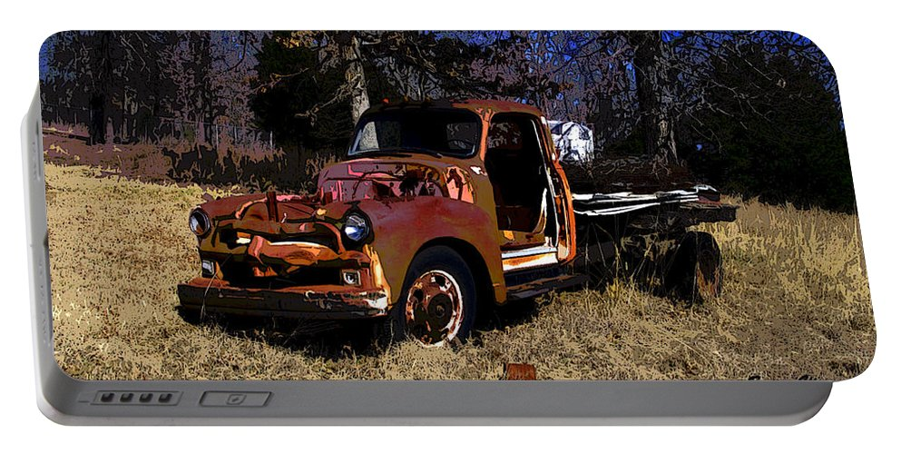 Truck Portable Battery Charger featuring the photograph Rusty Truck by Susan Vineyard