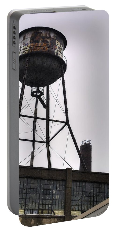 Louisville Portable Battery Charger featuring the photograph Rusty Water Tower by FineArtRoyal Joshua Mimbs
