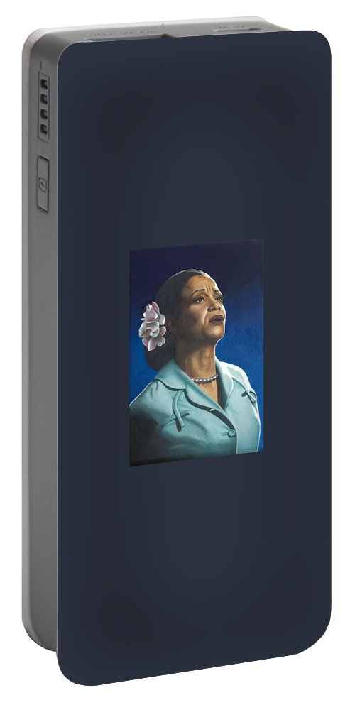 Portrait Portable Battery Charger featuring the painting Ruth Jacott by Rob De Vries