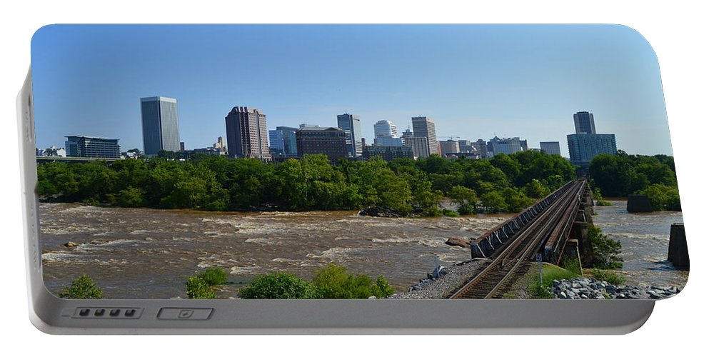 Richmond Portable Battery Charger featuring the photograph RVA by Aaron Dishner