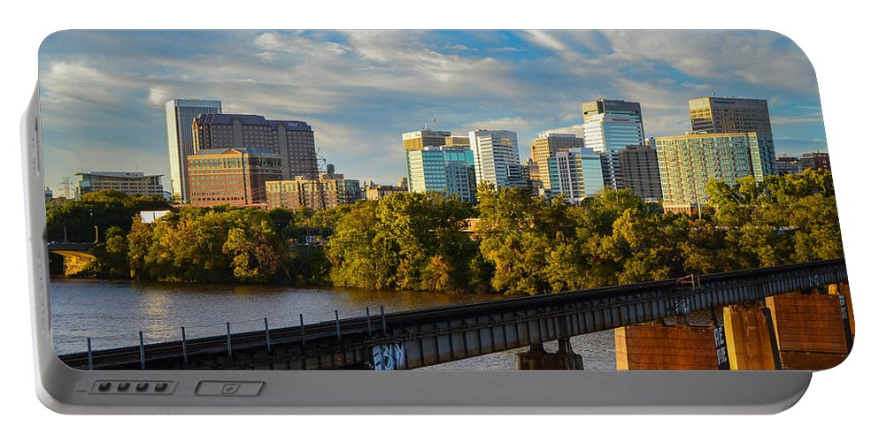 Sunset Portable Battery Charger featuring the photograph Rva Sunset by Aaron Dishner