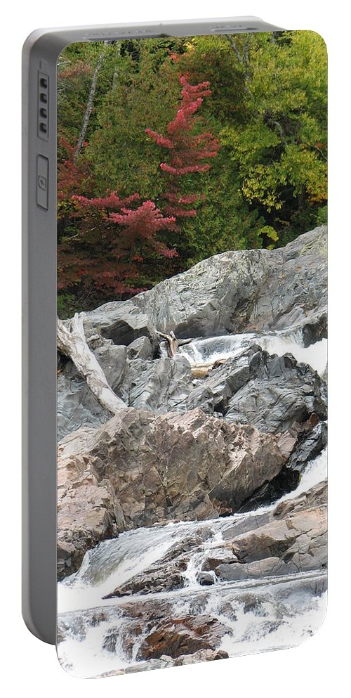 River Portable Battery Charger featuring the photograph S Curve by Kelly Mezzapelle
