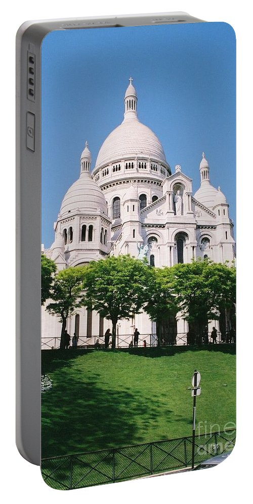 Church Portable Battery Charger featuring the photograph Sacre Coeur by Nadine Rippelmeyer