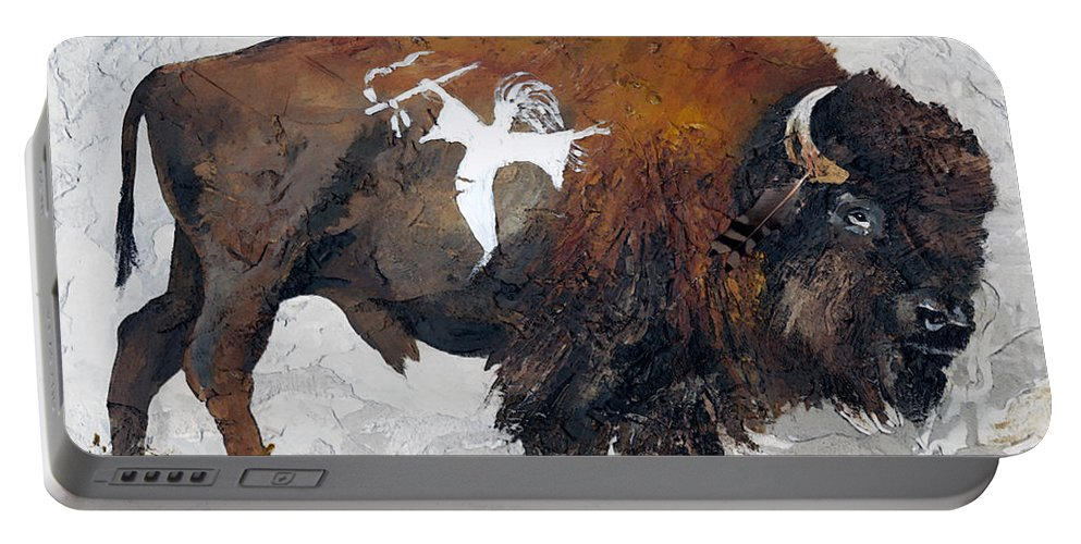 Southwest Art Portable Battery Charger featuring the painting Sacred Gift by J W Baker