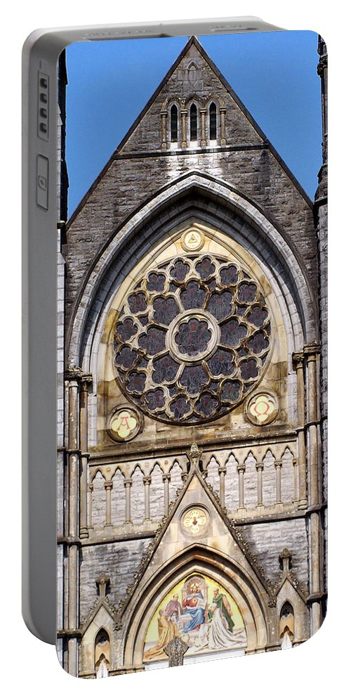 Ireland Portable Battery Charger featuring the photograph Sacred Heart Church Detail Roscommon Ireland by Teresa Mucha