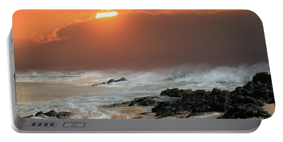 Aloha Portable Battery Charger featuring the photograph Sacred Journeys Song Of The Sea by Sharon Mau
