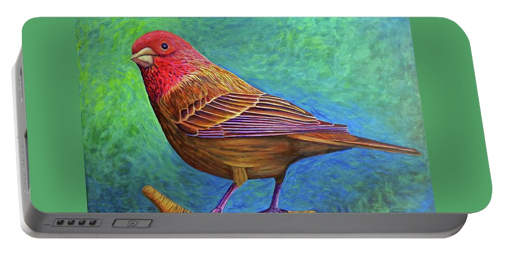 Bird Portable Battery Charger featuring the painting Sacred Space by Brian Commerford