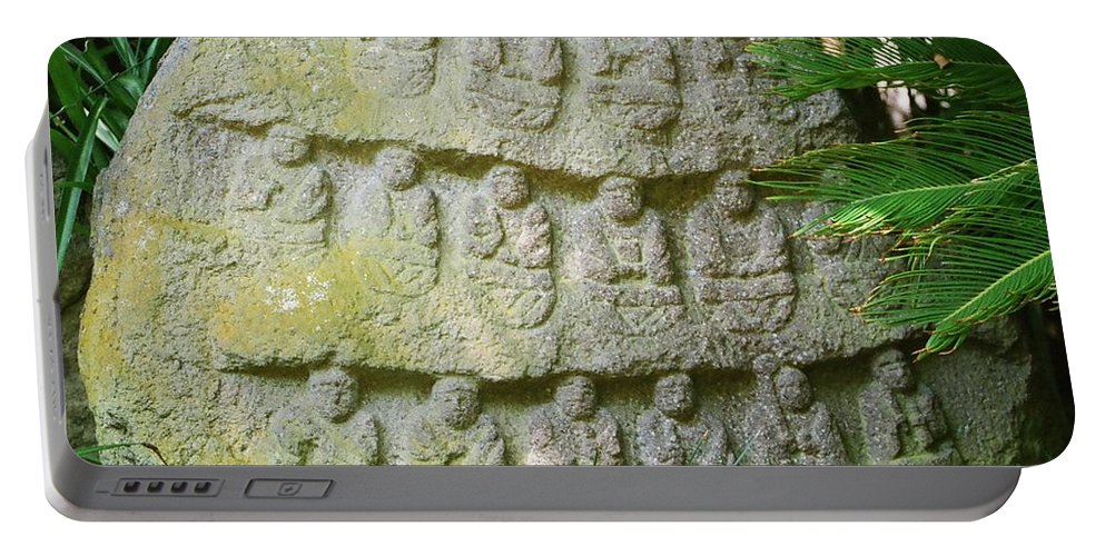 Stone Portable Battery Charger featuring the photograph Sacred Stone by Dean Triolo