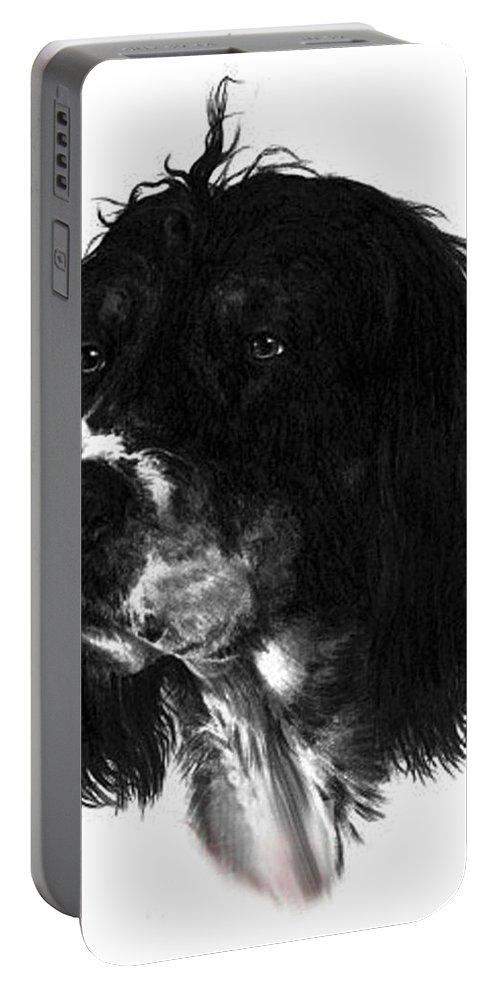 Portrait Portable Battery Charger featuring the drawing Sadie by Rachel Christine Nowicki