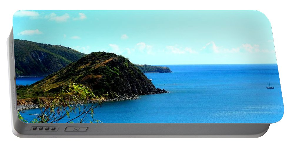 St Kitts Portable Battery Charger featuring the photograph Safe Harbor by Ian MacDonald