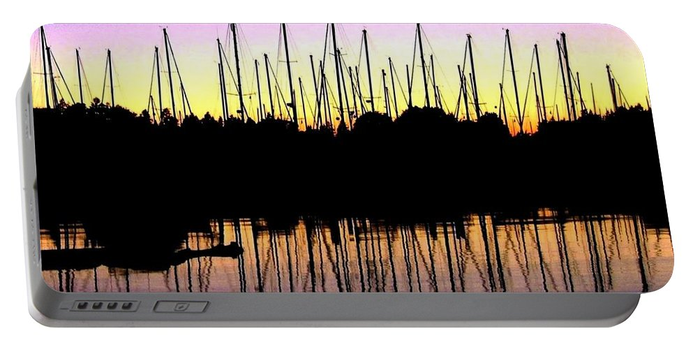 Sailboats Portable Battery Charger featuring the photograph Safe Haven by Will Borden
