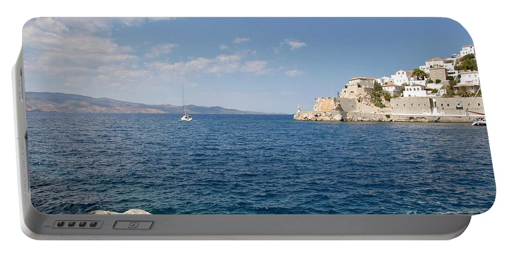 Hydra Portable Battery Charger featuring the photograph Sail Away To Hydra by Clay Cofer