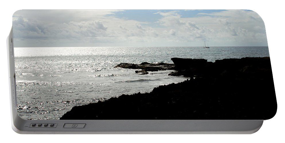 Sailboat Portable Battery Charger featuring the photograph Sailboat At Point by Jean Macaluso