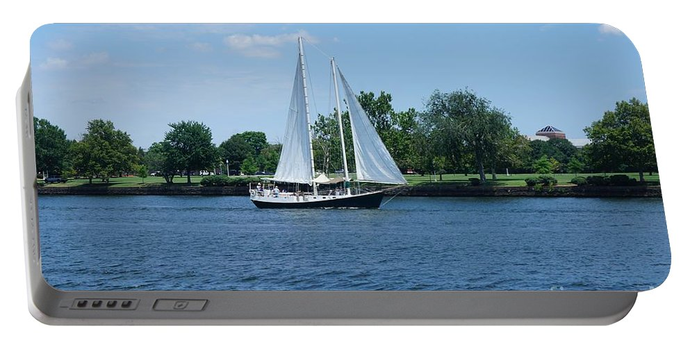 Andscape Portable Battery Charger featuring the photograph Sailboat On The Potamac by Jimmy Clark